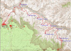 Grand Canyon 2007 - Trip Route Map